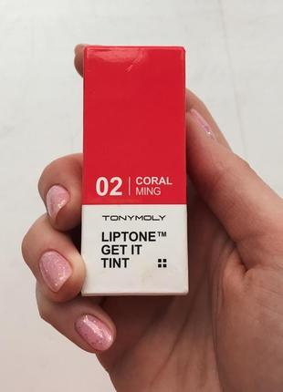 Увлажняющий тинт для губ tony moly liptone get it tint