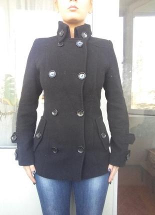 Драповое пальто, удлиненная куртка, драповый пиджак