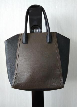 Классная сумка  с короткими ручками h&m