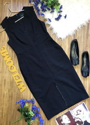 🌷3-я вещь -50%🌷супер стильное платье футляр с розрезом спереди