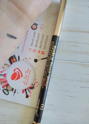 Карандаш для глаз с блестками (тени-карандаш) оттенок - черный
