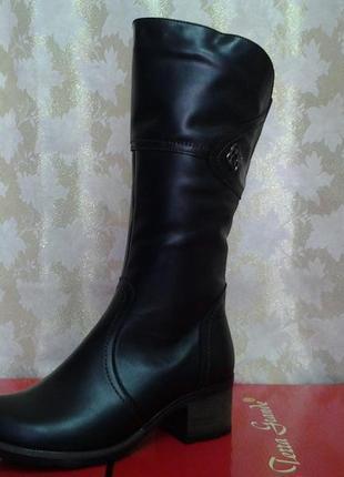 4e3a8ff25 Зимние комфортные кожаные сапоги больших размеров romax распродажа !37,38,39,40