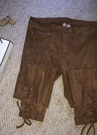 💫мега стильные штанишки под замшу h&m 🔥снижена цена 🔥