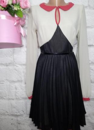 Платье миди юбка плиссе р 12 atmosphere