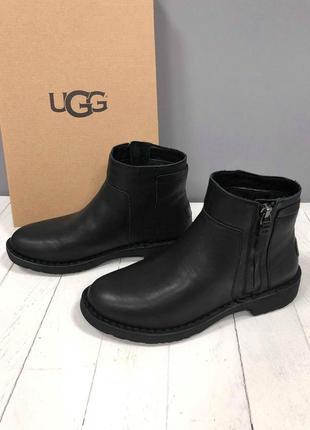 Черные зимние ботинки ugg
