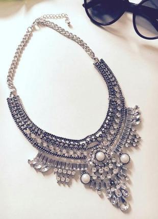 Колье ожерелье  в стиле бохо. тренд года.