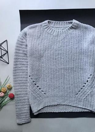 Крутой свободный бархатный свитер свитер оверсайз