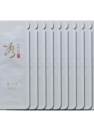 Эссенция с экстрактом женьшеня sooryehan ginseng essence пробники корейский люкс