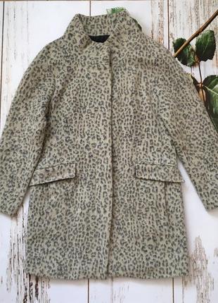 Легкое демисезонное пальто зара леопардовое s