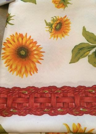 Скатертина на стіл соняшник