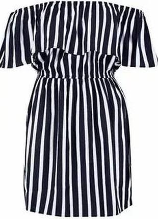 Новое платье с воланом в полоску