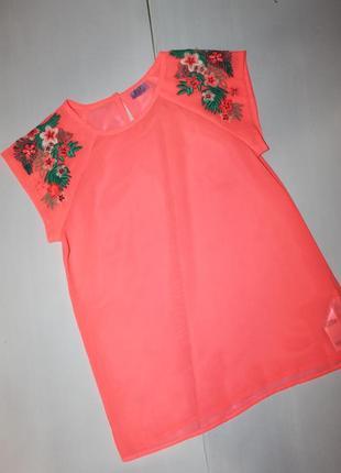 Красивая шифоновая блузка на девочку 10-12 лет
