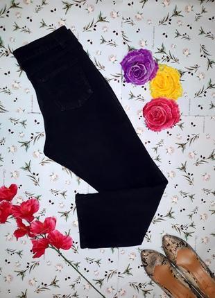 Черные джинсы с подворотами marks&spencer, размер 46-48
