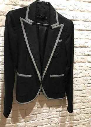 Пиджак zara 100% шерсть