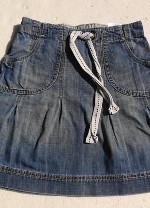 H&m. джинсовая юбка спортивного стиля. 110 размер.