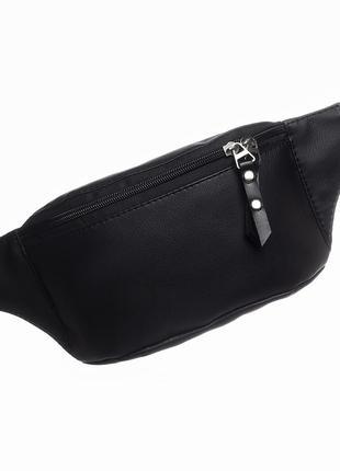 Чёрная бананка сумка на пояс sambag