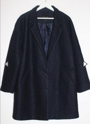 Пальто шерстяное оверсайз с карманами
