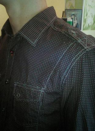 Стильная рубашка м размер tom tailor denim оригинал