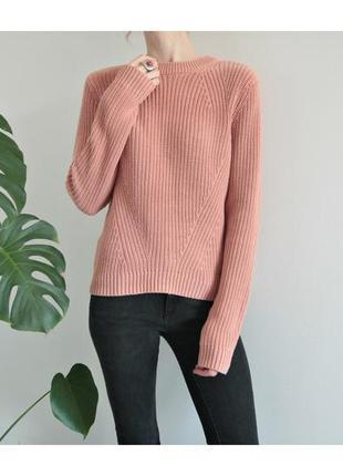 Актуальный свитер h&m пастельного цвета нюд пудра крупная вязка