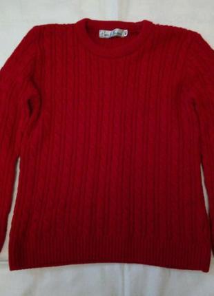 Яркий свитер в косы розмер m/l