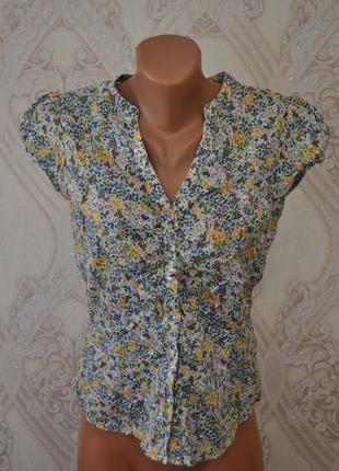 Рубашка,блуза в цветочный принт