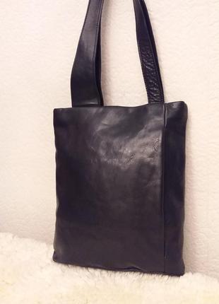 Суперкрутяцкая стильная кожаная итальянская сумка donna d шоппер