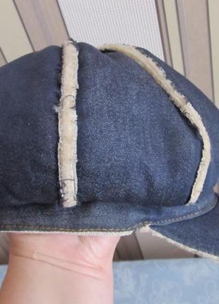 Джинсовая кепка-восьмиклинка