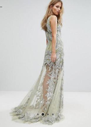 Шикарное вечернее платье, в пол, длинное