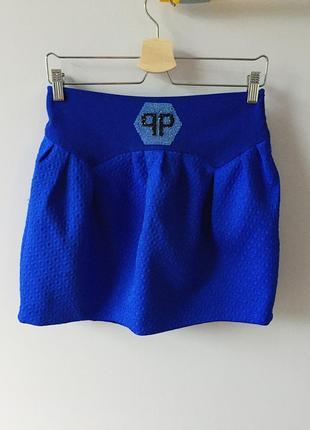 Синя спідниця philipp plein