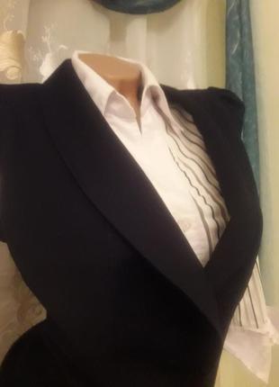 Шикарный деловой костюм двойка, coprizzo, 38-40, блуза в подарок
