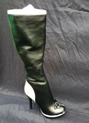 Брендові чоботи жіночі blue-tempt 37 (сапоги женские) 24 см