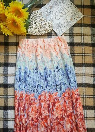 Красивая юбка плиссе омбре