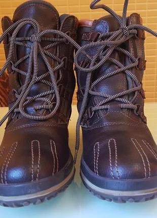 Стильные женские зимние ботинки hilfiger кожa