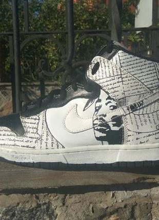 the best attitude 36090 68e07 Кроссовки nike rapper 2pac nike dunk tupac amaru shakur high tops shoes