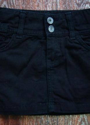 Чёрная джинсовая юбка gloria jeans