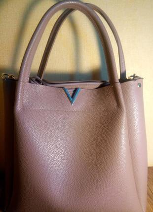 Кожаная женская вместительная сумка 👜💥