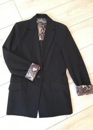 Пиджак жакет черный классический