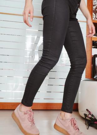 Штаны скинни как кожаные, джинсы черные, леггинсы, лосины, джеггинсы