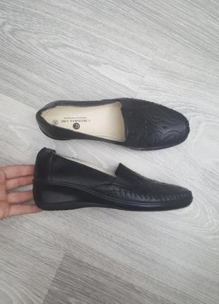 Новые ортопедические кожаные туфли мокасины слипоны черные 35 36 размер