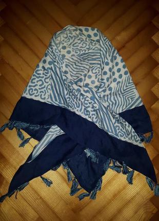 Стильный шерстяной шарф с кисточками!
