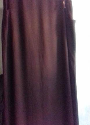 Коричневая юбка в пол большого размера