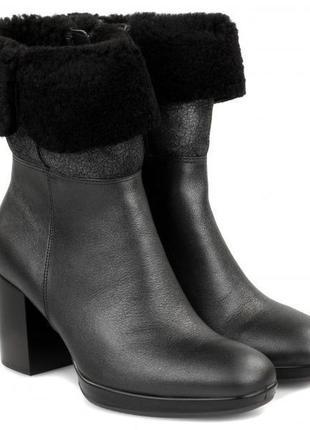 Зимние кожаные ботинки экко ecco shape 55 chalet platform р.40 новые индонезия