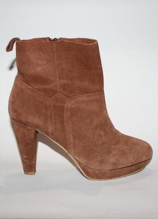 Демисезонные замшевые ботинки/ботильоны h&m, 37 размер