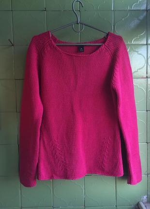 Свитко розовый крупная вязка h&m