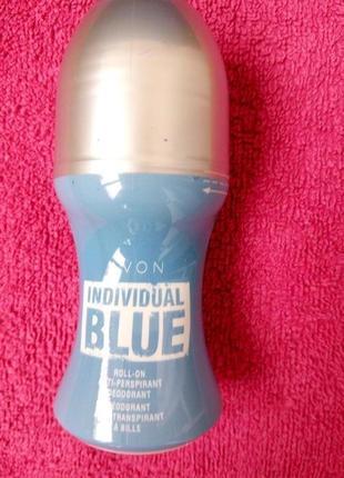 Мужской шариковый дезодорант-антиперспирант individual blue avon 50 мл