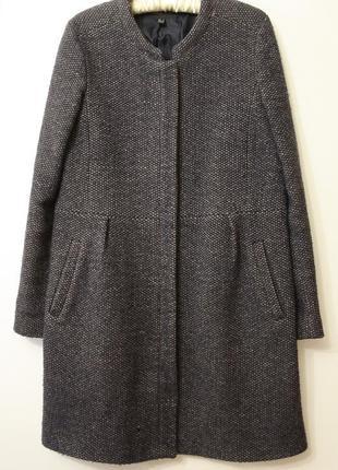 Шерстяное пальто mango 70% шерсть