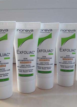 Матирующий тональный крем для проблемной кожи noreva exfoliac soin anti-imperfection