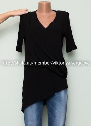 Большой выбор блуз - новая вискозная асимметричная блуза