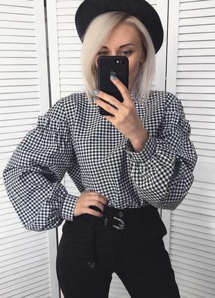 Шикарна сорочка в клітинку)