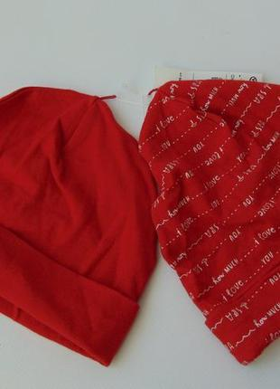Набор 2 трикотажные шапочки ог 48-49 c&a baby club